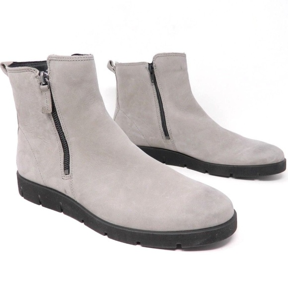 bba1dc8637c Ecco Womens Ankle Boots Sz 42 EU Nubuck Bella Zip